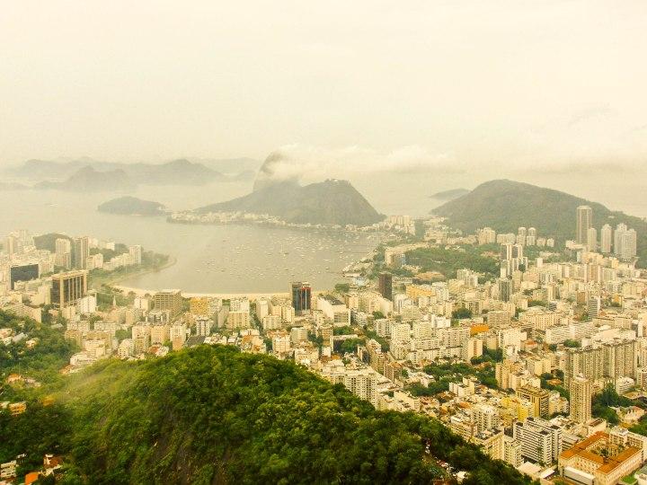 View of Pan de Azucar from Corcovado Mountain